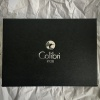 Colibri Torch Flame Lighter and Cigar Cutter Gift Box - Electric Blue