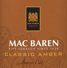 Mac Baren Classic Amber Loose Cut Vanilla Toffee Cream Pipe Tobacco - 40g Pouch