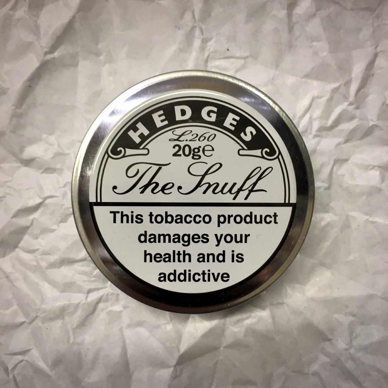 Hedges L260 Snuff - 20g Tin