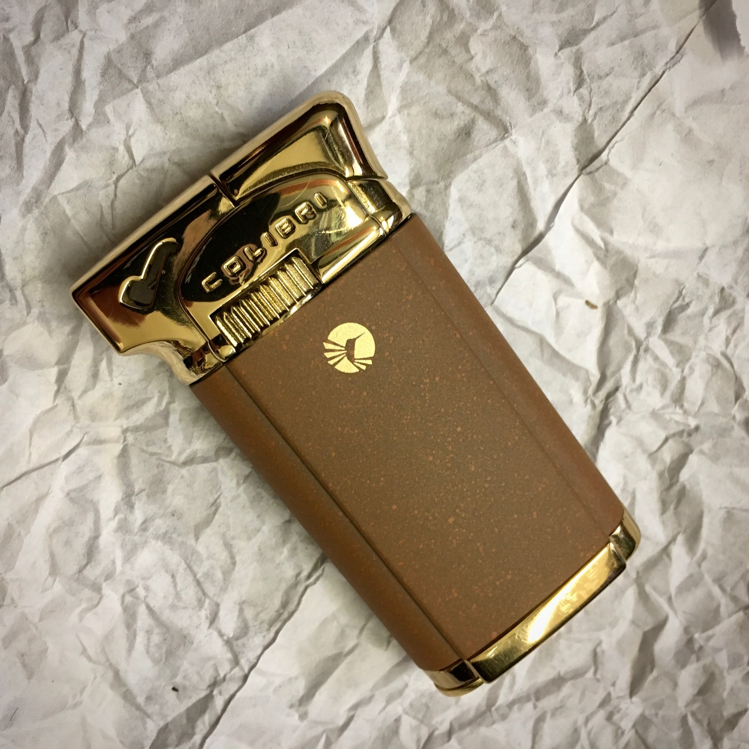 Colibri Connaught II Pipe Lighter - Brown and Gold Effect