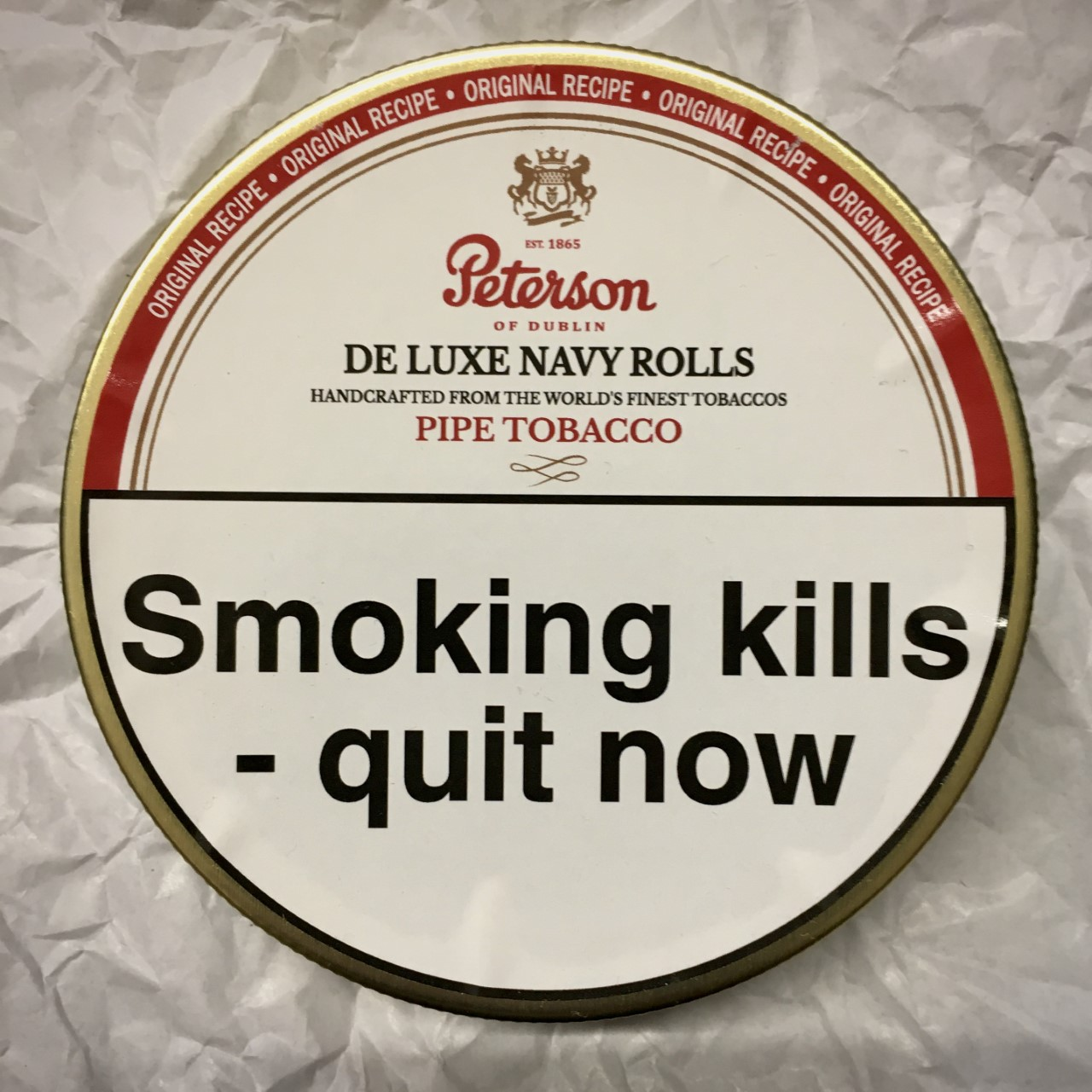 Peterson De Luxe Navy Rolls Pipe Tobacco - 50g Tin