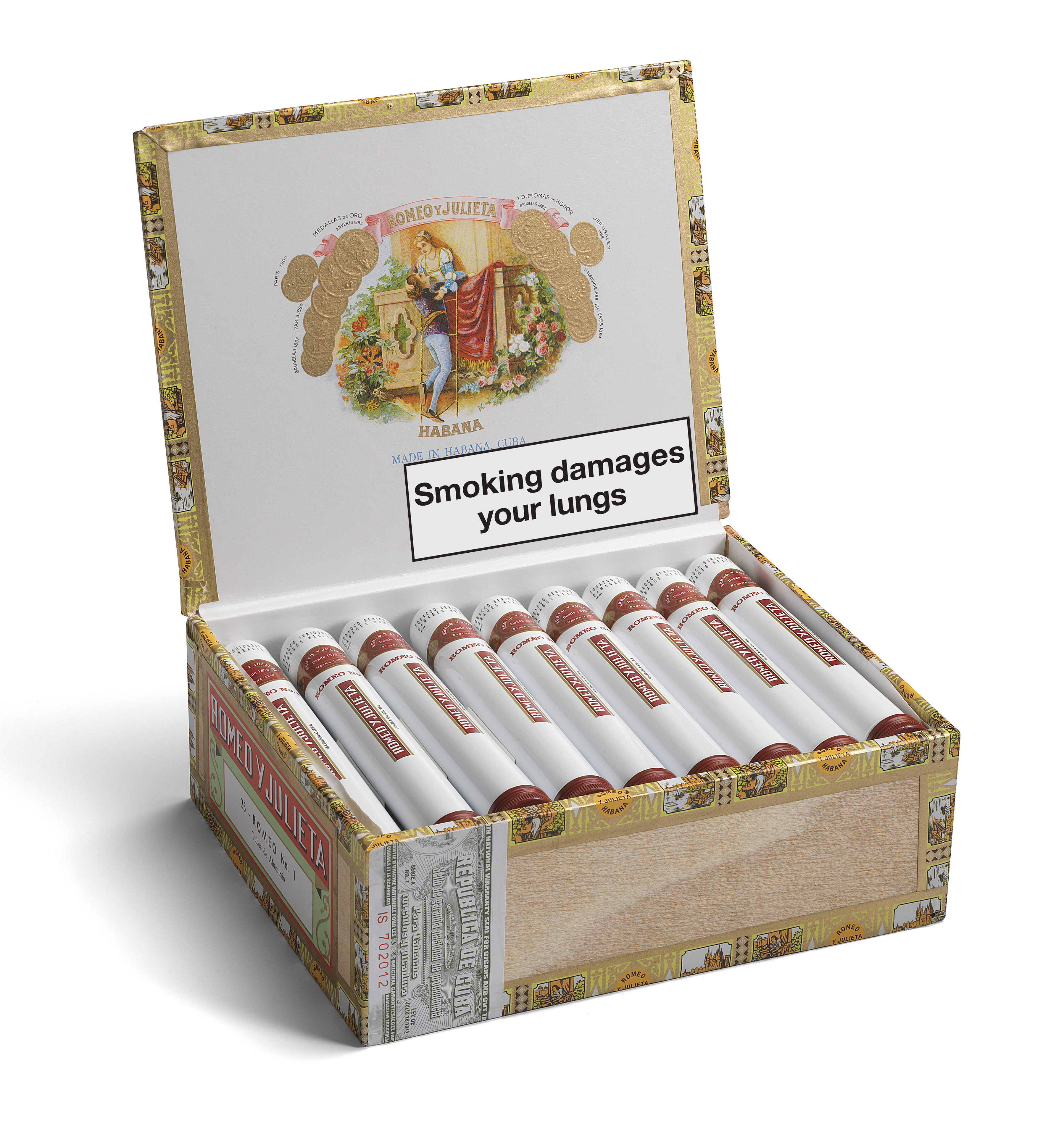 Romeo y Julieta Romeo No. 1 - Box of 25 Tubed Cigars