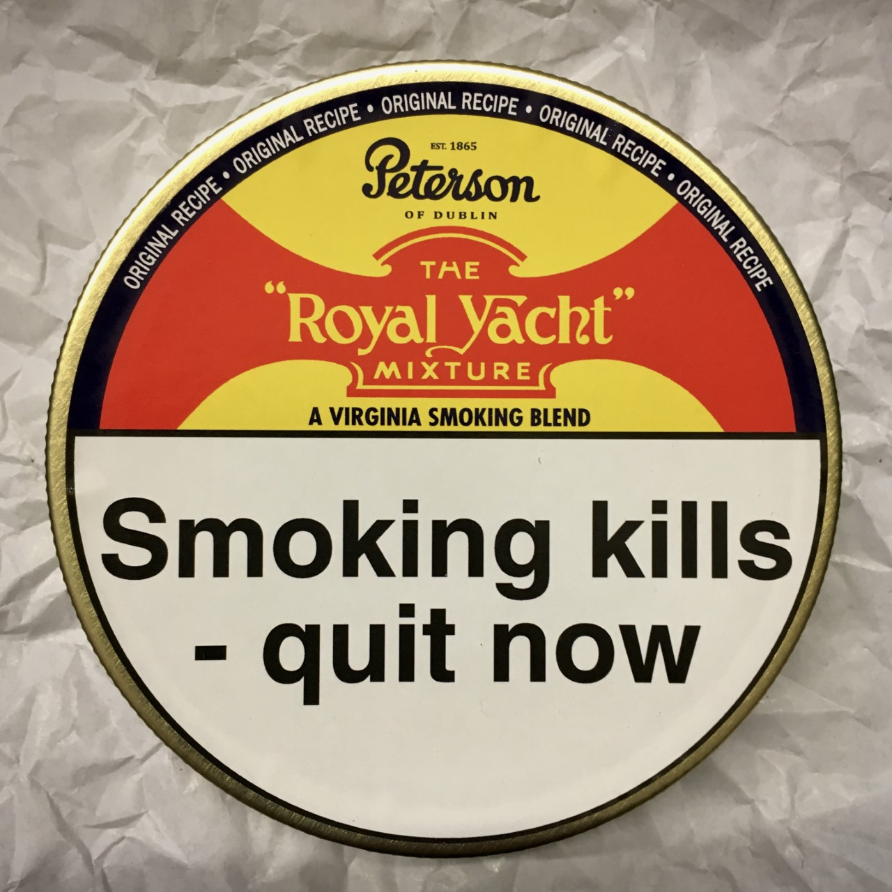 Peterson Royal Yacht Mixture Pipe Tobacco - 50g Tin