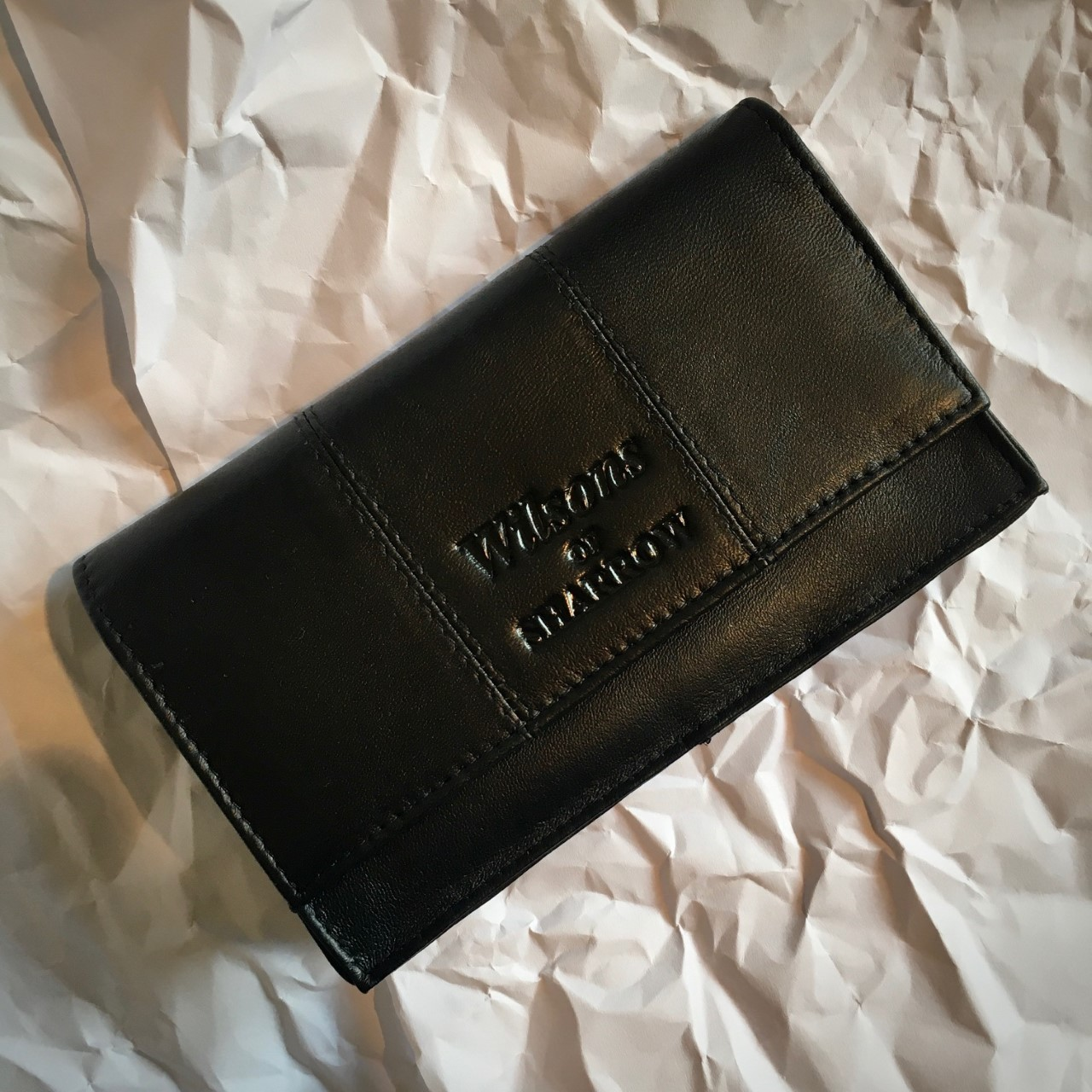 Wilson's of Sharrow Handrolling Tobacco Pouch - Black Leather