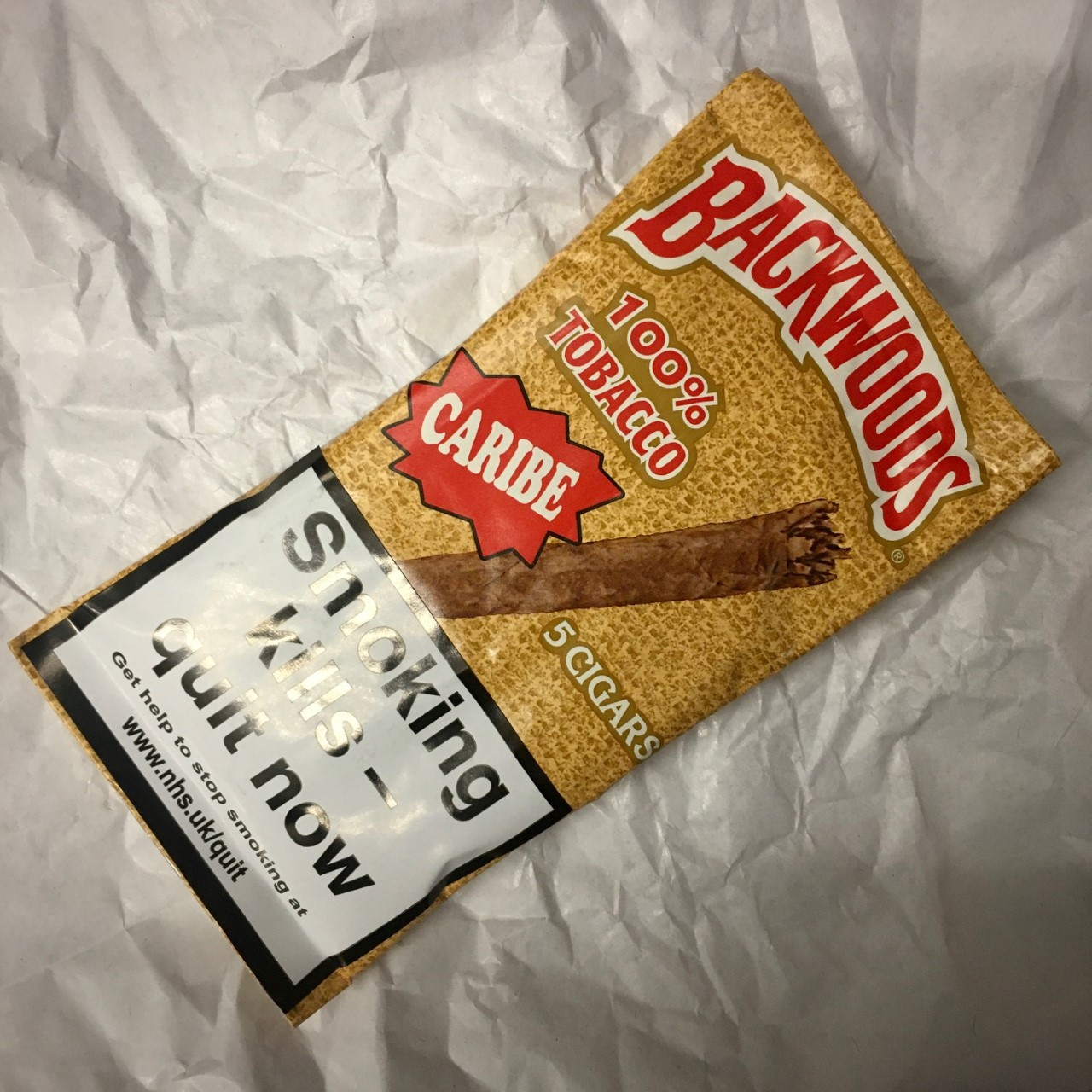 Backwoods Caribe Rum Cigars - Pack of 5